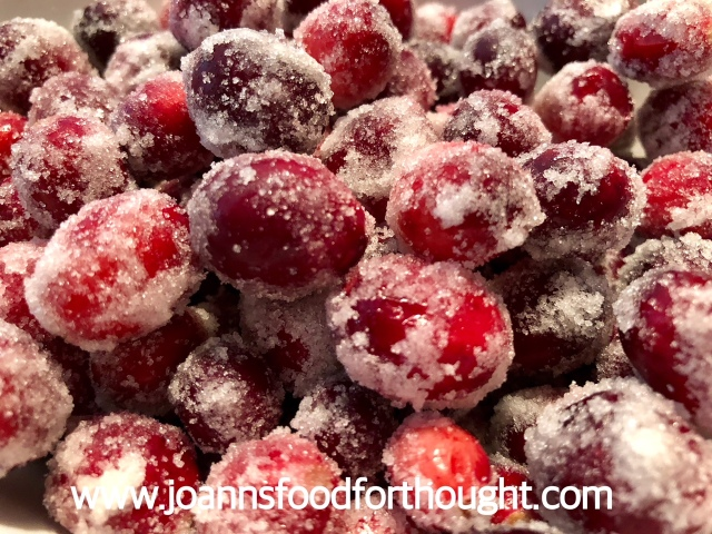 Sugared Cranberries Close Up