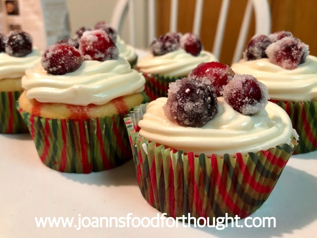 White Chocolate Cranberry Poke Cupcakes