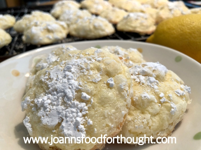 Lemon Butter Cookies plated